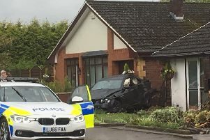 The aftermath of the crash on Low Bank Road