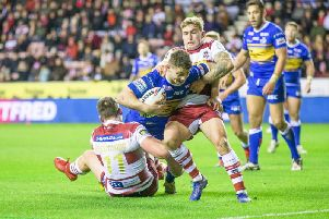 Sam Powell in action against Leeds earlier this season