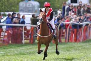 Kaitlen and Mulan in the charity race