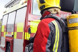 Firefighters were called at 2.20pm