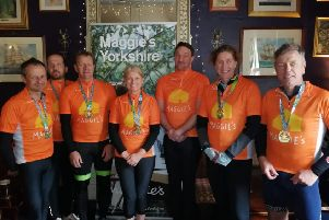 Tour de force: Staff at Wakefield Acoustics cycled the 80-mile Tour de Yorkshire route and are planning other fundraising feats.