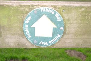 The Ribble Way route begins in Longton and ends at the source of the Ribble at Gayle Moor near Ribblehead.