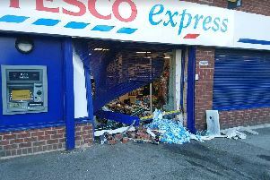 A cash machine was stolen during a ram raid in Doncaster yesterday