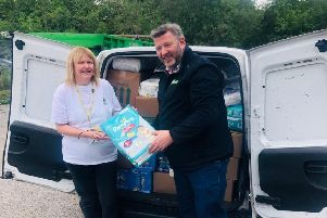 Vital supplies: Approved Food MD Andy Needham said the company had to help the Food Bank team.