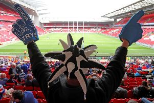 Fans inside Anfield for the Magic Weekend - but one supporter was unhappy with public transport to the event