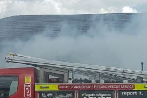 A fire engine at the blaze
