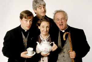 The original cast of Father Ted