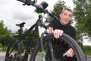 Shaun Dingsdale reunited with his trusty bike