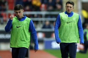 Preston North End's Jack Baxter (right) and Adam O'Reilly