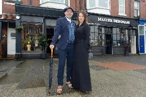 Master Debonair expands into next door premises. Owners Simon and Eve Whitaker