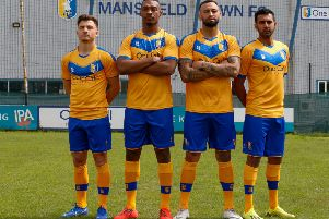 Stags players sport the new-look home kit.