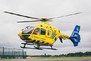 The air ambulance was called to the horse show