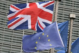 The UK and EU flags