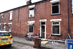 The terraced house was badly damaged in the fire