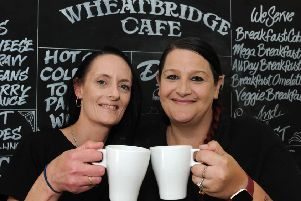 Cheryl Lomas and Andrea Beardmort ready to welcome Derbyshire Times readers with a free cup of tea or coffee.