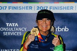 Michelle Brown-Crowther who is hoping to complete six marathons