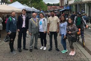The group met Mayor of Wigan Coun Stephen Dawber and his consort