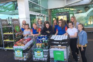 Leigh Guides foodbank collection