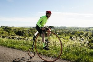 Matlock teaching assistant Richard Thoday will begin his penny farthing ride from Land's End to John O'Groats on Saturday, July 20.