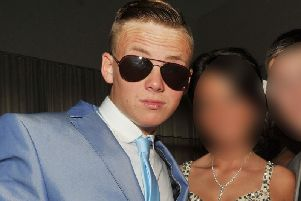 Billy Livesley at his school leaver's ball in 2013
