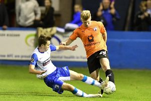 George Smith in action against Barrow