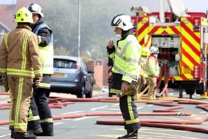 Firefighters were called on Sunday afternoon