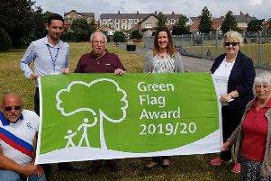 Regent Park in Morecambe has been awarded a Green Flag Award for the first time.