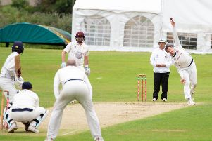 Cleckheaton spin bowler Andrew Deegan claimed 4-44 to help dismiss Lightcliffe for 213 before his side went on to complete a four-wicket win in the Bradford Premier League last Saturday. Picture: Bruce Fitzgerald