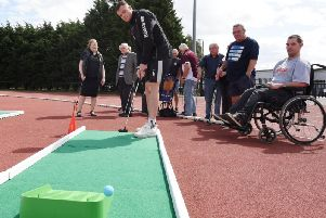 Rugby Memories staged an afternoon of crazy golf at Robin Park Arena, Wigan Warriors new training base