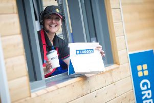 Get a free hot drink from Greggs.