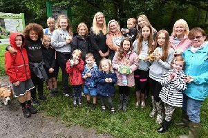 Families are enjoying hunting for a trail of painted rocks through Borsdane Wood, Hindley, an idea devised by Becca Shaw and son Bowen, five