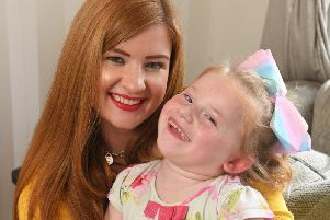 Lucy Campbell with daughter Hallie