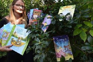 Sarah Rice, organiser of Find a Book, where children and families are encouraged to search for books hidden in various locations in the community
