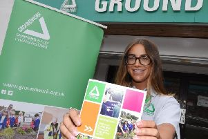 Amy Stark from Groundwork, based in Wigan, promotes the new scheme, Hidden Talent, to help people use their skills and get a job