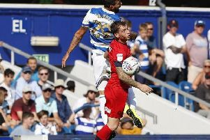 Joe Garner in action at Loftus Road