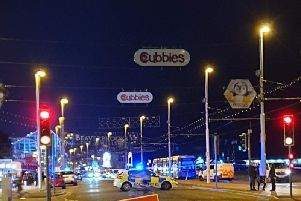 A 14-year-old boy suffered 'critical' injuries after being hit by a tram during Ride the Lights in Blackpool, at around 9.50pm on Tuesday, August 27, 2019 (Picture: Steven King)