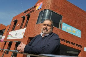 Bernard Edmunds outside his beloved Wigan Youth Zone