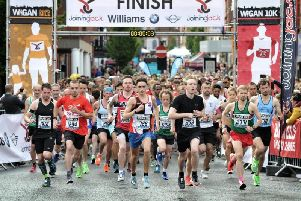 The start of this year's Wigan 10k