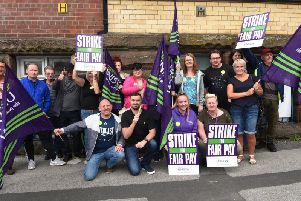 Addaction staff on the picket line in Wigan last month