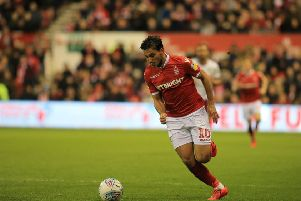 Nottingham Forest midfielder Joao CARVALHO during the match between Nottingham Forest and Aston Villa at The City Ground Nottingham on 13-03-19 Image Jez Tighe