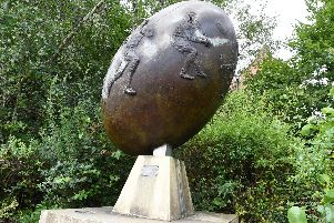 The statue commemorates how the site of the Tesco store was once used and the people whose ashes were left there