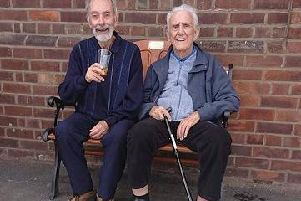 Ian Hamilton and fellow Montrose Hall Care Home resident Jimmy Houghton