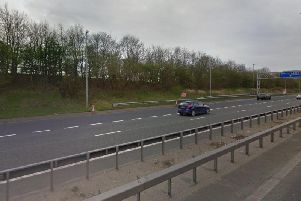 The Vauxhall Corsa was found on fire near the westbound M55 slip road for junction 4 at Marton Circle at 10.15pm last night (September 11)
