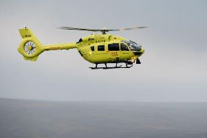 The Yorkshire Air Ambulance narrowly avoided a crash with an illegal drone.