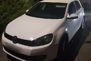 The suspected pool car seized by Batley and Spen Neighbourhood Policing Team