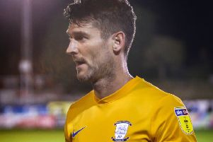 David Nugent during Preston's Lancashire Senior Cup tie at Chorley (photograph: Stefan Willoughby)