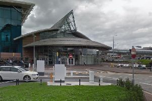 Bomb squad officers were called to the airport station this morning. (Google)
