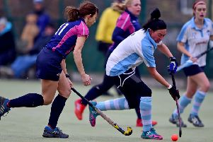 Kim Sharples scored the only goal and was player of the match as Batley Ladies defeated Pudsey 1-0 to maintain their unbeaten start to the Yorkshire Hockey Association Division Three North season. Picture: Paul Butterfield