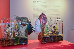 New exhibitions at Harley Gallery, Welbeck.  Ghost Horses and Guns exhibition  by Melanie Tomlinson