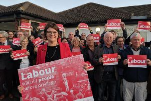 Sally Gimson, pictured with Bassetlaw Labour activists